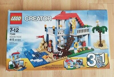LEGO Creator 7346 Seaside House, 3 IN 1, COMPLETE w/Box, Manual (Retired - 2012)