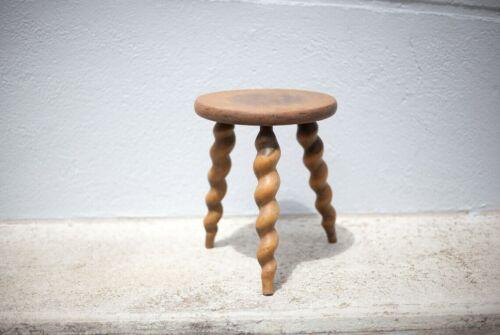 Vintage stool, wooden stool, tripod stool turned feet, plant holders, interior d