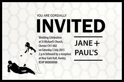 Funny Wedding Invitation (MODERN FUNNY PERSONALISED WEDDING INVITATIONS 6