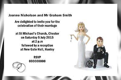 Funny Wedding Invitation (PERSONALISED FUNNY WEDDING CELEBRATION INVITATIONS 6