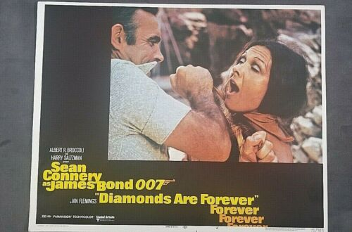 Diamonds Are Forever SEAN CONNERY Lobby Card #4 CHOKING WOMAN 1971 MrSTUFF