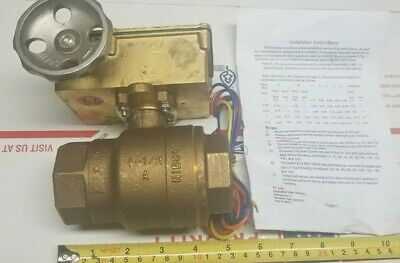 1-12 Nibco Kt-505w-8 Threaded Bronze Ball Valve Fire Protection Manual 2 Piece
