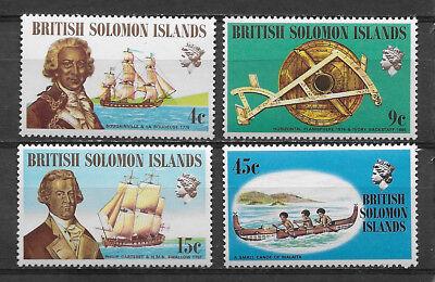 BRITISH SOLOMON ISLANDS , 1972 , FAMOUS EXPLORERS,  SET OF 4 , PERF , MNH