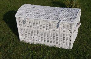Mimbre ba l almacenaje soluci n sauce caja juguete lino - Baul mimbre blanco ...