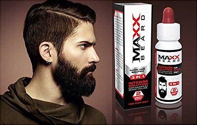 MAXX Beard - #1 PATCHY FACIAL HAIR SOLUTION - For Maximum Growth & Volume