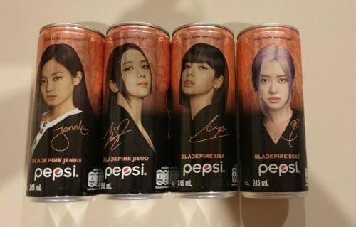 PEPSI BLACKPINK SET 4 PCS 2020 Can 245 ml Empty Can World Shipping THAILAND