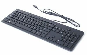 genuine dell kb113p black usb wired slim quiet computer keyboard only read ebay. Black Bedroom Furniture Sets. Home Design Ideas