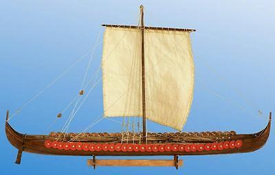 "Traditional, New Wooden Model Ship Kit by Dusek: the ""Viking Longship"""