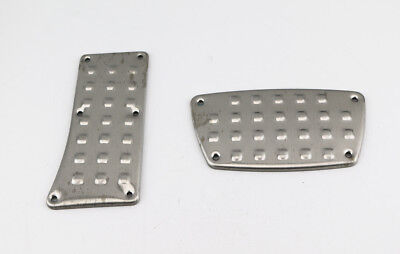 UNIVERSAL RACING STAINLESS STEEL BRAKE GAS FOOT PEDAL PAD COVER KIT AUTO TRANS Brake Pedal Pad Standard