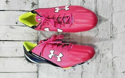 bf735cf42 Under Armour Speedform MC Low Pink Black Silver White Football Cleats MENS  SZ 13