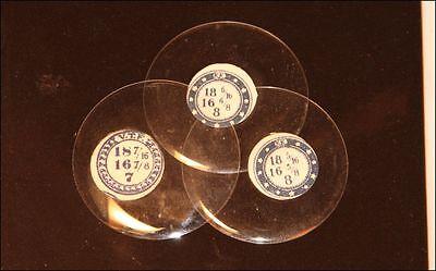 - 18 Ligne NOS Glass Antique Pocket Watch Crystals Hunter Sizes HEIGHT 7 & 8