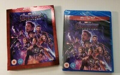 Avengers Endgame w/ Slipcover (3D + 2D Blu-ray, 3 Discs, Region Free) *NEW*