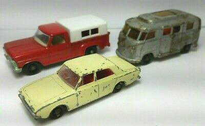 Matchbox Lesney Lot of 3 VW Camper Lowered Roof, Ford Corsair, Ford Pickup No6