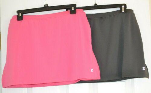 Lot of 2 Womens Golf IZOD Perform Cool FX Pink Gray Stretch Skort Skirt S Small