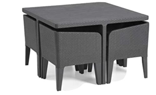 Garden Furniture - COLUMBIA  GARDEN FURNITURE TABLE ONLY NO CHAIRS - GRAPHITE -
