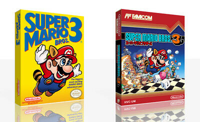 - Super Mario Bros. 3 NES Replacement Game Case Box + Cover Art Work Only