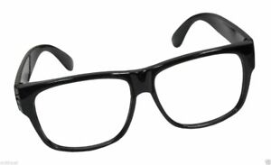 Black Frame Nerd Retro Hipster Frames Glasses No Lens Lense Costume Accessory
