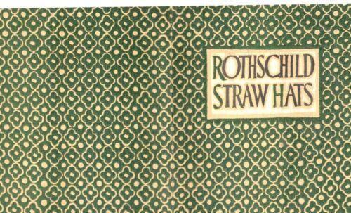 Rothschild Straw Hats Advertising Brochure  St. Paul, Mpls  1920
