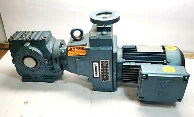 Sew Eurodrive 1 Hp Ac Electric Motor W 20-102 Rpm Gear Motor 230yy460y