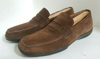 PRADA Vintage Loafer Brown Leather Suede Shoes -Men's UK 7 - US 8 FREE SHIPPING
