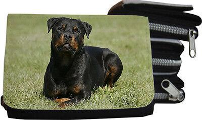ROTTWEILER - GELDBÖRSE Brieftasche Portmonee 12x8cm Textil - RTW 01 (Rottweiler Geldbörse)
