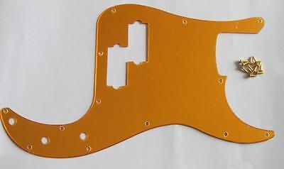 USA Size Precision Bass P Bass Pickguard Scrach Plate Gold Mirror