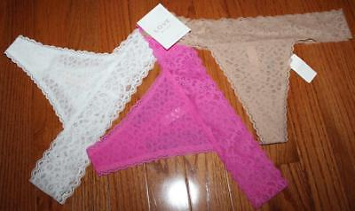 3 Pack Undies - NEW NWT 3 Pack GAP Women's LOVE By GapBody Lace Thong Panties Undies $35 *5G