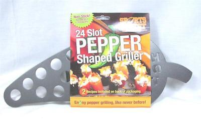 Lot of 12 Jalapeno Pepper Shape Griller Non-Stick Popper Roaster BBQ Grill A-14