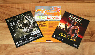 Fallout New Vegas Classic Pack Brink Hunted Xbox 360 Live Gold Card Flyer PS3 , used for sale  Shipping to United States