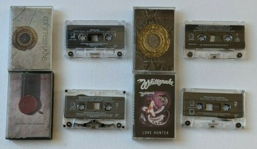 Whitesnake 4 Cassette Lot Slip of The Tongue Love Hunter Greatest Hits Self Titl