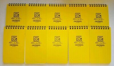 Pack Of 10 Rite In The Rain 135 All-weather Notebook 3x5 Free Shipping