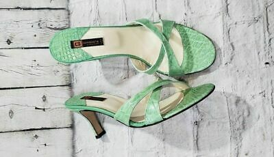NEW Giorgio's of Palm Beach Green Genuine Alligator Heels Shoes Women's SZ 9 Alligator-heels