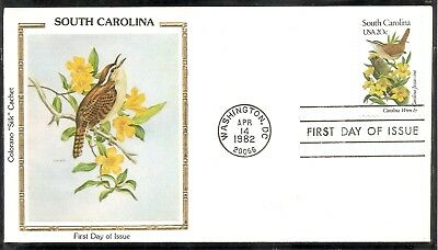 US SC # 1992 State Birds And Flowers ( South Carolina ) FDC. Colorano Cachet .