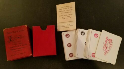 VintageTrail Cards Game with Box & Directions 1903 Parlor Card Games