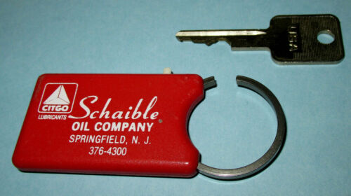 Vintage Citgo SCHAIBLE OIL COMPANY Key Ring & Box Cutter-Springfield, New Jersey