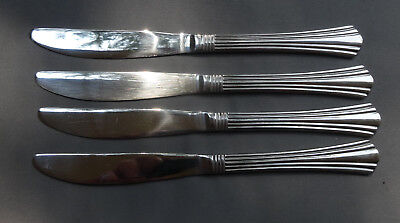 Set of 4 International Stainless Symmetry 4 Dinner Knives 8 (Stainless Symmetry)