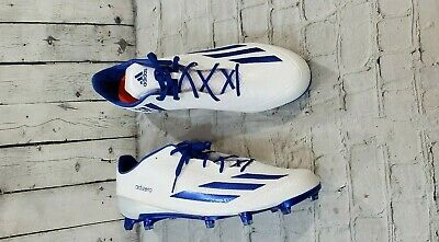 cheap for discount 06e36 d55e5 NEW Adidas Adizero 5-Star 5.0 Low Football Cleats White Royal Blue MENS  SIZE 17