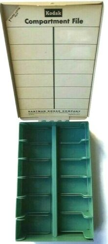 Vintage Kodak Kodaslide Compartment File Slide Holder Box