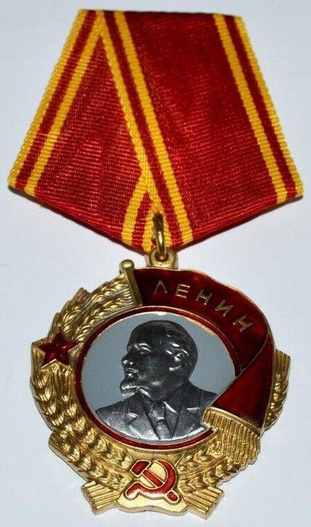 """SOVIET RUSSIAN AWARD ORDER  MEDAL """"ORDER OF LENIN"""" TYPE 6.USSR. COPY"""