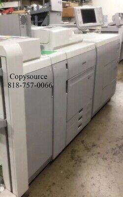Canon Imagepress C700 Color Copier Wfinisher And Large Paper Deckfiery