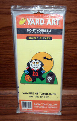 Halloween Do It Yourself Yard Art Pattern Vampire at Tombstone 40 x 35