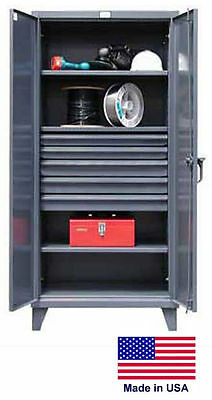 Steel Cabinet Commercialindustrial - Shelves Drawers 35 - 78 H X 24 D X 36 W