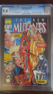 New Mutants #98 (First appearance of Deadpool cgc 9.4) $450 obo