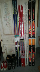 Assorted Skis / Boots/ Poles