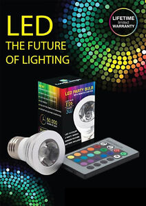 led party bulb with remote