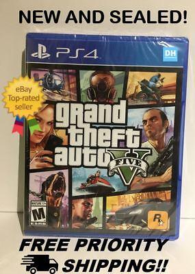 Grand Theft Auto Gta V 5  Sony Playstation 4 Ps4  New  Free Priority Shipping