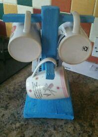 Handmade mug tree stand /tree key stand