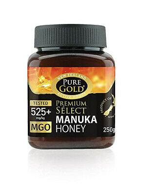 New Zealand Pure Gold Premium Select Manuka Honey 525+ Mgo 250g Active Honey