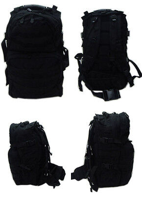 MOLLE Medium USMC Assualt Backpack Pack Hiking Patrol - BLACK