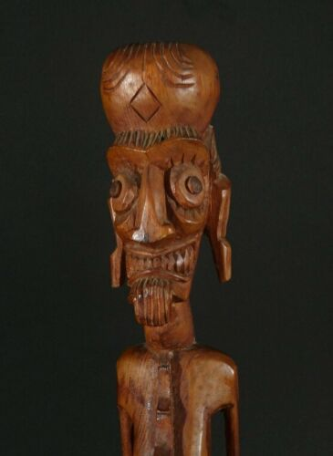 "Rare Toromiro 18"" Easter Island Moai Kavakava ancestral figure with Provenance!"